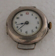Face Pocket Watch Made Into Wrist Watch A Cute Antique Small Ladies Silver Open