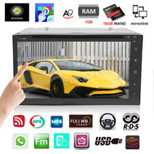 7'' Android Car Radio Stereo Quad Core WIFI Double 2DIN DVD Player GPS FM+Camera