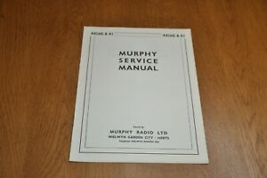 Murphy A426G and A1 Record Player Workshop Service Manual