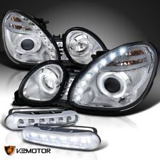 For 98-05 Lexus GS300 GS400 Halo SMD Projector Headlights+LED Bumper Lamps