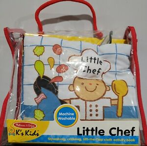 Melissa & Doug Little Chef Squeaking Crinkling Lift the Flap Cloth Activity Book