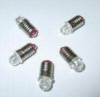 Ampoules De Remplacement LED (Märklin 600100/600200) E5.5 16-24V - 5 Pièces Neuf