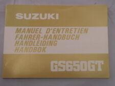 SUZUKI GS650 GT 1982 FAHERHANDBUCH HANDLEIDING MANUAL D'ENTRETIEN HANDBOK