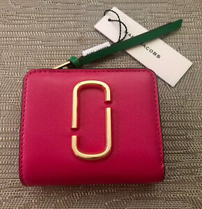 Authentic Marc Jacobs Leather Pink Snapshot Mini Wallet - Sold Out Colour