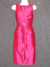 ADRIANNA PAPELL Pink Satin Sleeveless Sheath Dress SZ 4