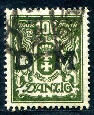 DANZIG DIENST 1923 37 gestempelt TADELLOS ATTEST BPP 550€(Z8194
