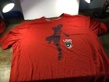 New Without Tags Nike Usa Lacrosse Jersey Red Dri-Fit Shirt Adult Xxl