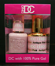DND DC Soak Off Gel Polish Antique Pink 133 LED/UV 6oz 18ml Gel Duo Set NEW