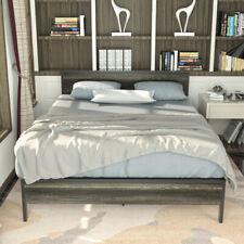 Queen Size Metal Bed Frame Platform 600lbs Heavy Duty Mattress Foundation USA