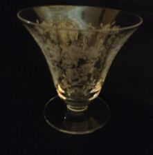TIFFIN-FRANCISCAN CHEROKEE ROSE, OYSTER/FRUIT COCKTAIL CRYSTAL GLASS 3 ¼  ht