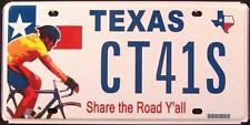 """TEXAS """" SHARE THE ROAD - BICYCLE """" TX Specialty License Plate"""