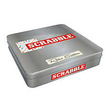 Scrabble Retro Tin Edition Word Making Board Game With Wooden Tiles by Tinderbox
