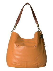 NWT The Sak Indio Hobo Ochre Leather Shoulder Bag Handbag Purse MSRP $149