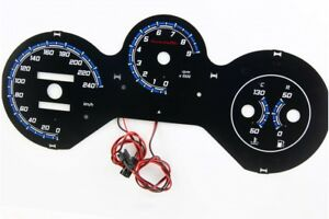 Fiat Barchetta design 2 glow gauges dials plasma dials kit tacho glow dash shift