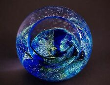 Neptune Glass Eye Studio GES Paperweight from Celestial Series