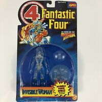Marvel Comics Fantastic Four INVISIBLE WOMAN Clear Action Figure Toy Biz 1995