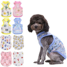 Summer Cool Dog Clothes Breathable Pet Cat Vest Cartoon Printed Puppy T Shirt