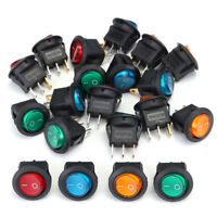 20pz 12V 20A Interruttore A Pulsante ON/OFF LED Dot Per Auto Moto Barca