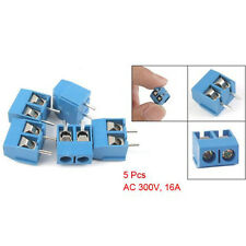 5 Pcs 300V 16A 2P 5mm Pitch PCB Screw Terminal Block Connector SY