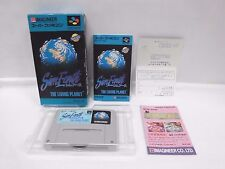 SIM EARTH -- Can backup data. Boxed. Super famicom, SNES. Japan game. 12030