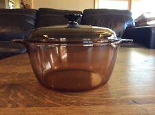 Corningware Corning Amber Pyrex Visions 4.5 Liter 5 Quart Dutch Oven Pot