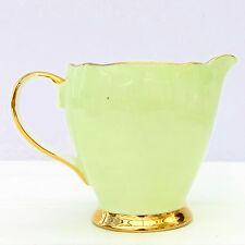 Vintage Fce Longport China Jarra de leche Pastel Verde