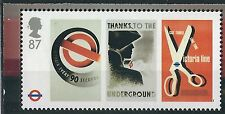 M010) Great Britain. 2012. MNH. SG from ms3429 87p. London Underground. Posters