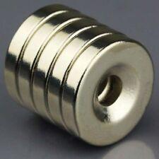 5x Starke Neodym Magnete N50 20x4mm mit Senkung Bohrung 5mm Ring Magnet