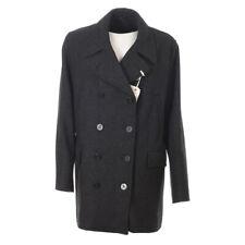 GLOVERALL Reefer Duffle Coat Charcoal Wool Blend LJ