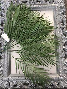 12Pcs Palm Leaves Fake Greenery Foliage Tropical Plant Tree Plast Leaf Joblot