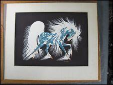 Native American Woody Crumbo 1912-1989 Serigraph Silkscreen Print Spirit Horse