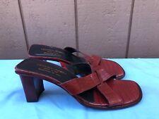EUC Donald J Pliner Vone Women's Red Leather Sandals Slides Shoes US 8.5M A6