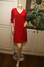MNG by MANGO knee length RED WOOL BLEND SWEATER DRESS US Size M EEUC