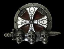 CELTIC IRISH SKULLS SWORD CROSS BELT BUCKLE BOUCLE DE CEINTURE