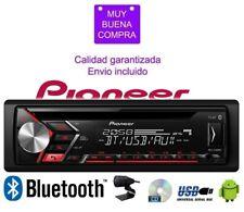 Radio CD con sintonizador RDS Bluetooth para coche Pioneer AUX USB DEH-S3000BT