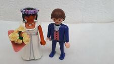 Playmobil casa de muñecas novia novio novia par boda iglesia
