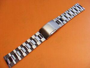 Oyster Uhrenarmband Stahl Edelstahl Massiv mit 18mm Bandanstoß