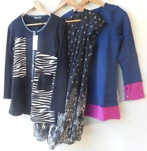 Bulk lot 3 three items size 10 clothing NWT black white tops mixed women