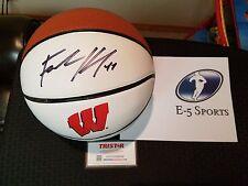 Frank Kaminsky Wisconsin Badgers Signed Full Size Logo Basketball Tristar