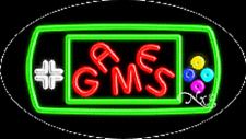 """Brand New """"Games"""" 30x17 Oval Solid/Flash Real Neon Sign w/Custom Options 14453"""