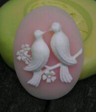 Love Birds cameo silicone push mold mould polymer clay resin sugar craft USA