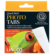 Lineco 500 Quick Stick Photo Corner tabs, Self adhesive, Acid Free  (bin 400-A)