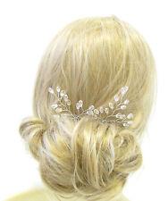 2 argent vigne épingles à cheveux mariée mariage bandeau clip perle art deco feuilles 1090