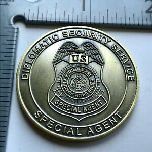 badge challenge coin police Department of State DSS FBI DEA Diplomatic Security