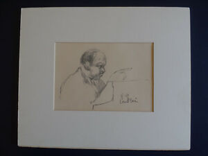 Xavier de Callatay 1969 Count Basie Original Art Drawing one of a kind