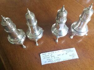 Sterling Frank Whiting Salt&Pepper 4 Shakers
