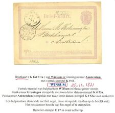 NEDERLAND 1871  BK   LANGST = WINSUM  =  NAAR AMSTERDAM VW PR EX