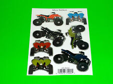 7 ASSORTED KAWASAKI SUZUKI HONDA YAMAHA ATV QUAD STICKERS DECALS