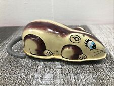 Vintage YONE Made in Japan Tin Wind Mouse Toy NO. 2169