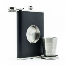 The Original Shot Flask 8oz Hip Flask Built-in Collapsible Shot Glass